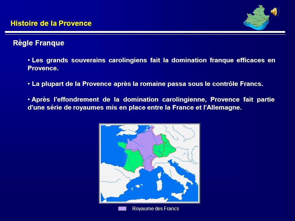 Histoire de la Provence La Civilisations Romaine Provence a été colonisée par les Romains à partir de 200 B.C jusqu'à 400 A.D. Romains fondèrent Aix-e