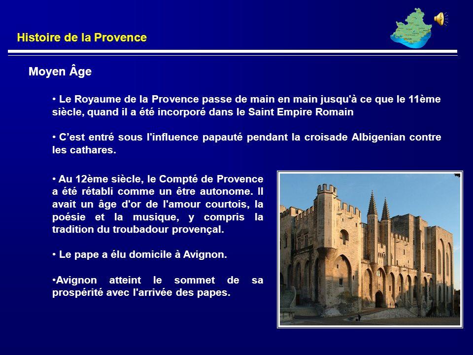 Règle Franque Les grands souverains carolingiens fait la domination franque efficaces en Provence. La plupart de la Provence après la romaine passa so