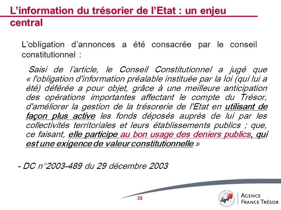 35 Saisi de larticle, le Conseil Constitutionnel a jugé que « l'obligation d'information préalable instituée par la loi (qui lui a été) déférée a pour