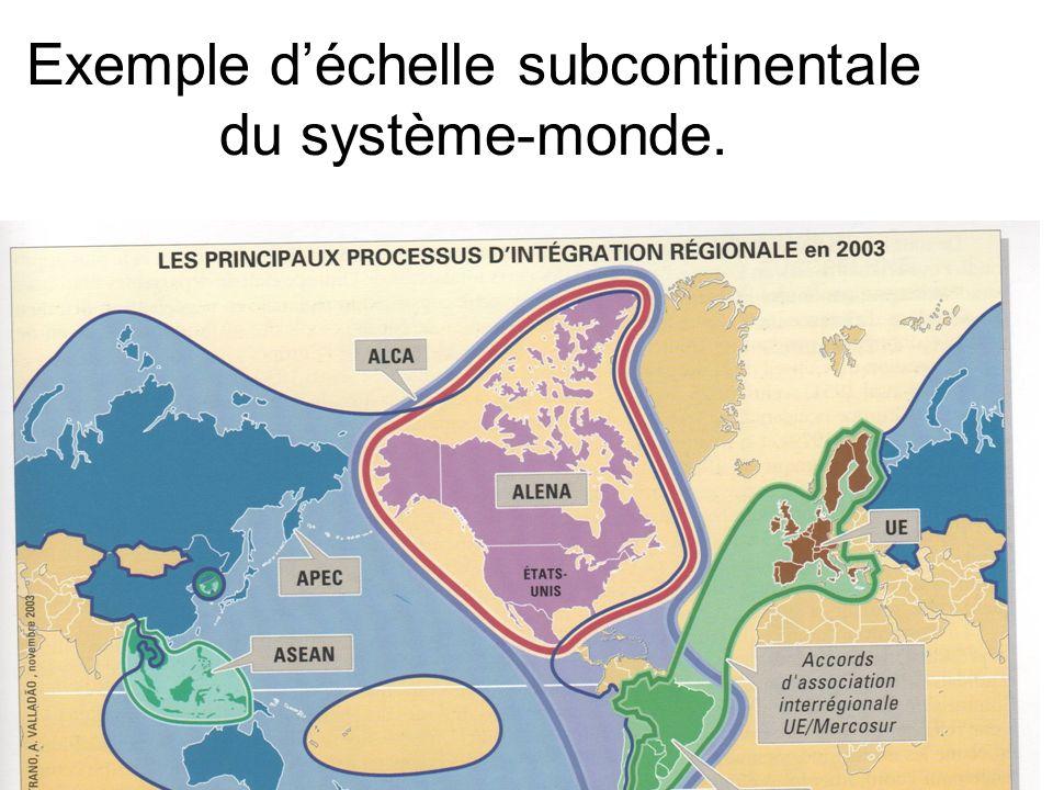 Exemple déchelle subcontinentale du système-monde.