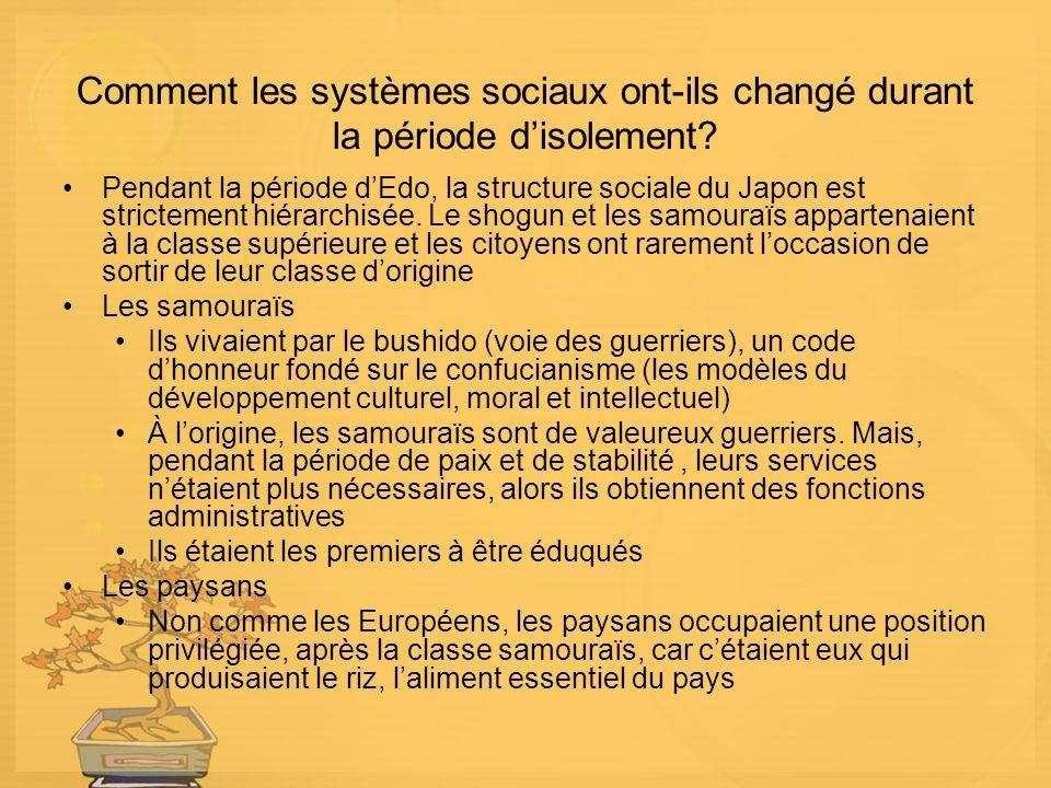 Comment les systèmes sociaux ont-ils changé durant la période disolement.