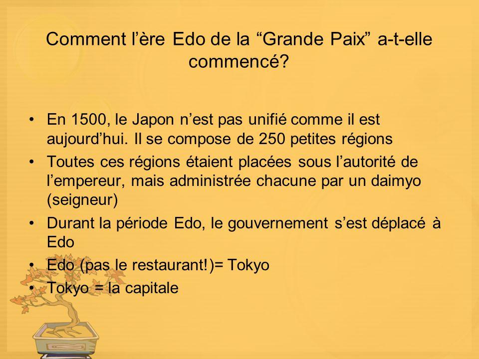 Comment lère Edo de la Grande Paix a-t-elle commencé.