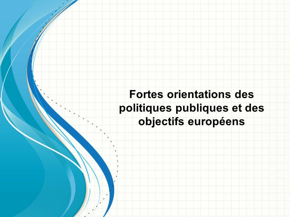 Fortes orientations des politiques publiques et des objectifs européens