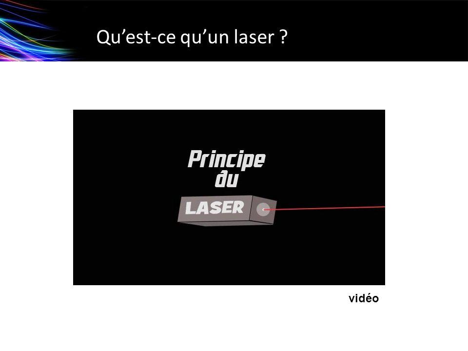 Lecture de code barre Barre noire = 1Barre blanche = 0 Exemple : norme européenne à 8 chiffres Le faisceau laser est balayé le long du code barre La quantité de lumière réfléchie est mesurée par un détecteur puis convertie en « 0 » et « 1 ».