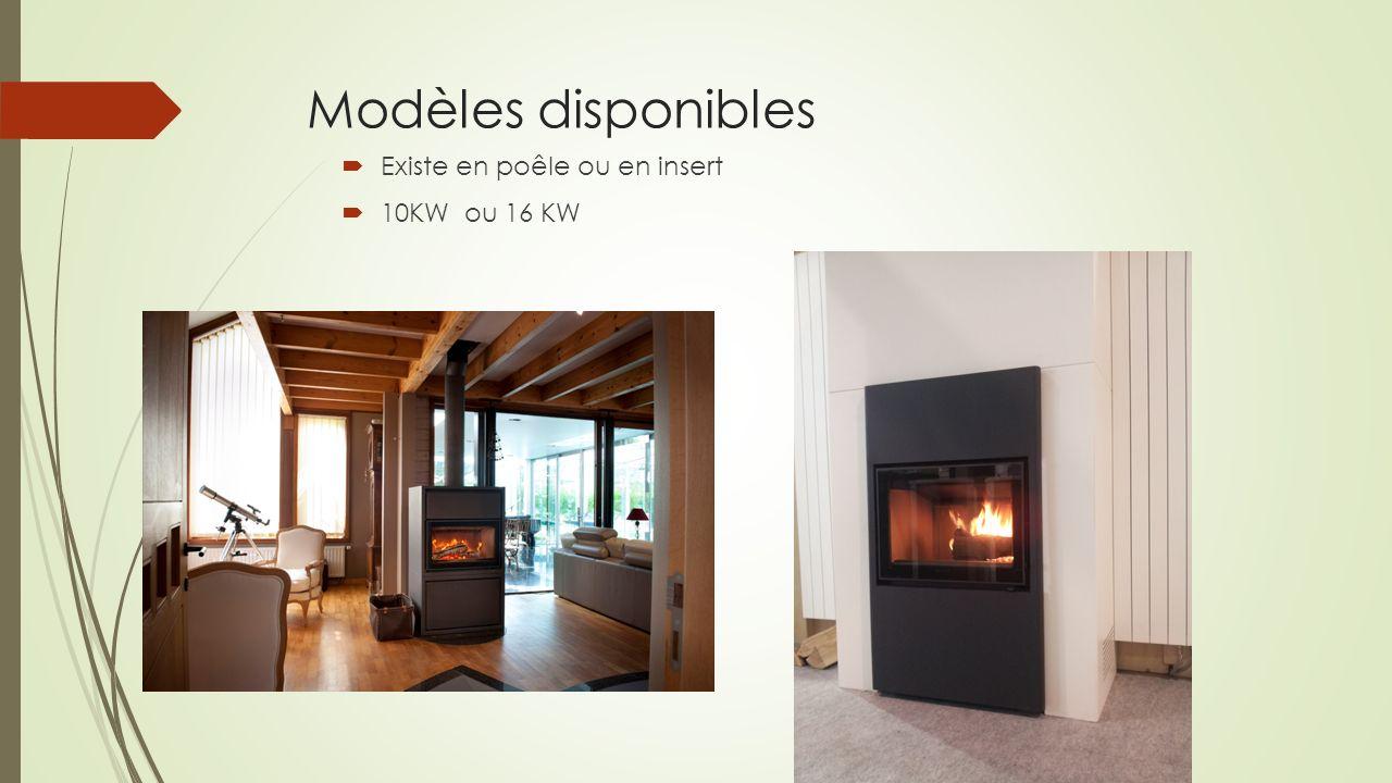 Modèles disponibles Existe en poêle ou en insert 10KW ou 16 KW