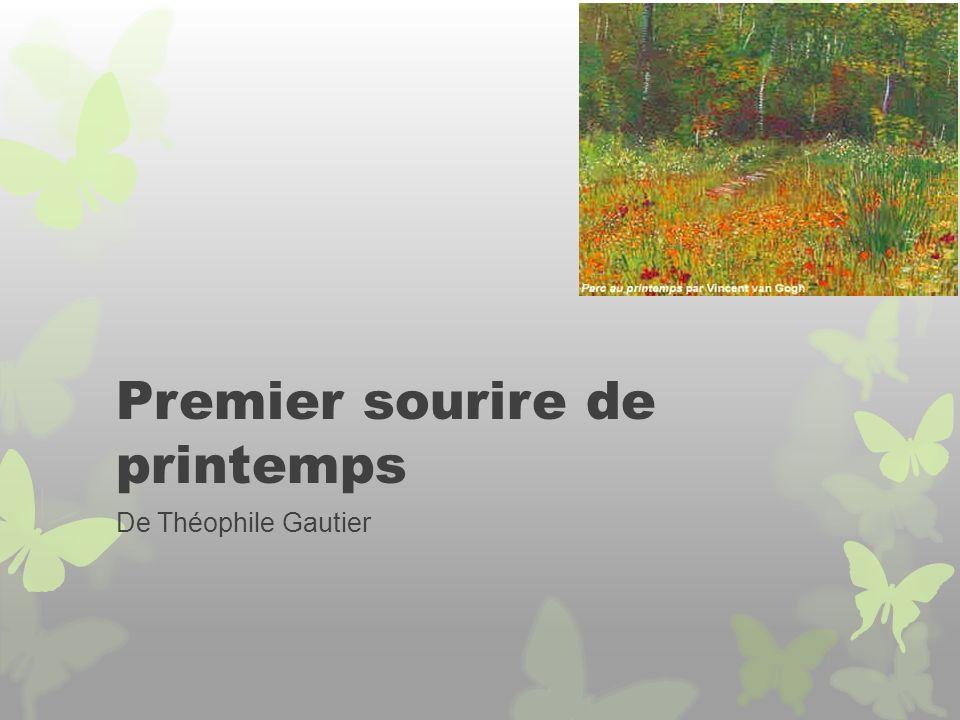 Premier sourire de printemps De Théophile Gautier