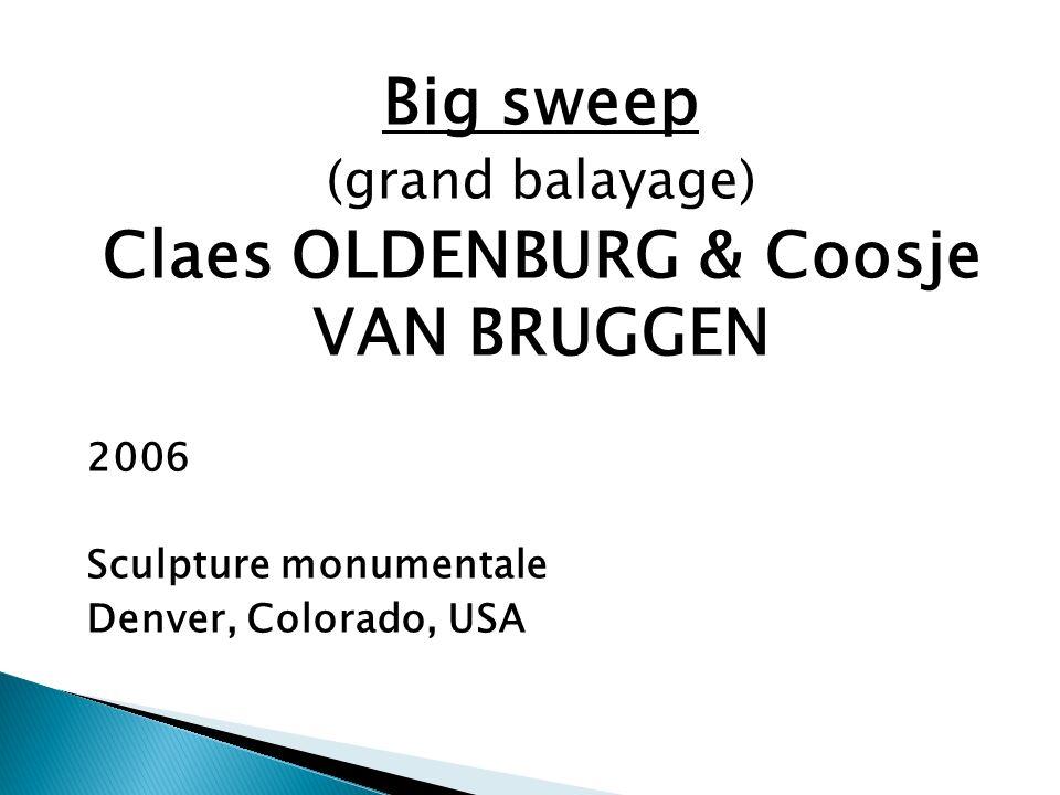 Big sweep (grand balayage) Claes OLDENBURG & Coosje VAN BRUGGEN 2006 Sculpture monumentale Denver, Colorado, USA