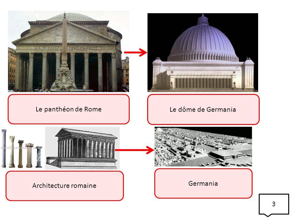 Le panthéon de Rome Le dôme de Germania Architecture romaine Germania 3