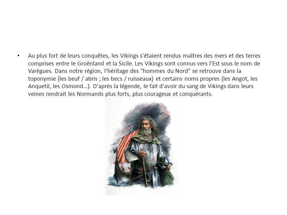 Xe - XIIIe siècle : l indépendance du Duché 911 : traité de Saint-Clair-sur-Epte Ce traité règle ainsi le conflit entre les Vikings, installés à l embouchure de la Seine dès 896, et le roi franc Charles le Simple.