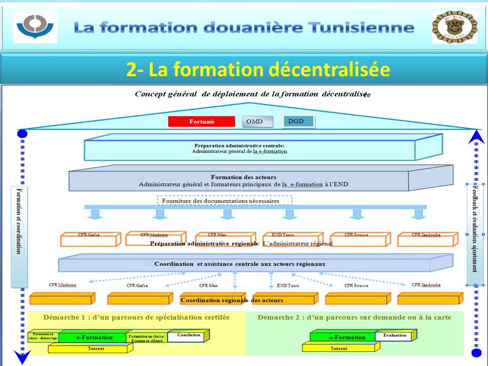 2- La formation décentralisée ée