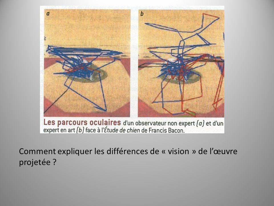 Comment expliquer les différences de « vision » de lœuvre projetée ?