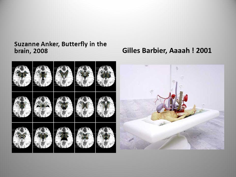 Suzanne Anker, Butterfly in the brain, 2008 Gilles Barbier, Aaaah ! 2001