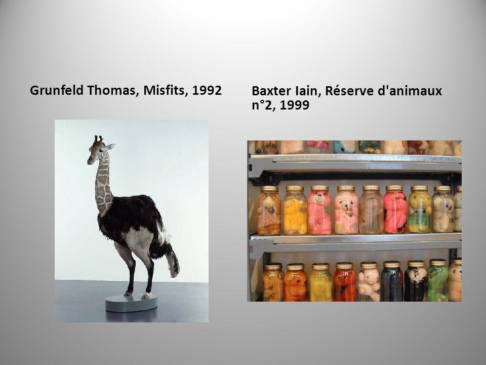 Grunfeld Thomas, Misfits, 1992 Baxter Iain, Réserve d animaux n°2, 1999