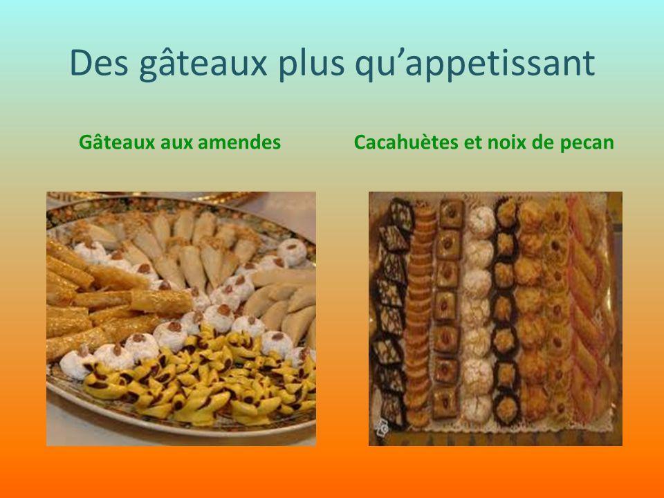 Des gâteaux plus quappetissant Gâteaux aux amendesCacahuètes et noix de pecan