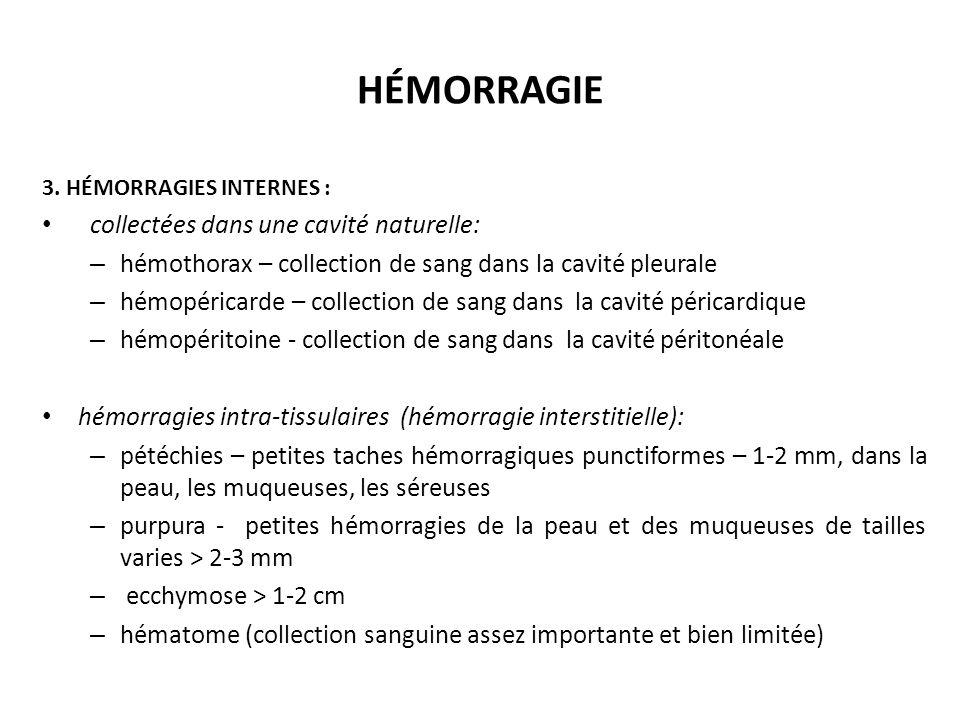 HÉMORRAGIE 3.
