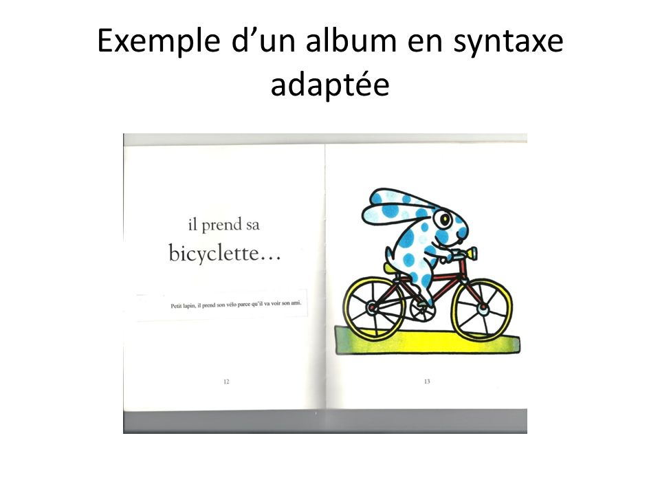 Exemple dun album en syntaxe adaptée