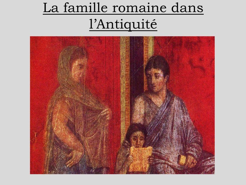 La famille romaine dans lAntiquité