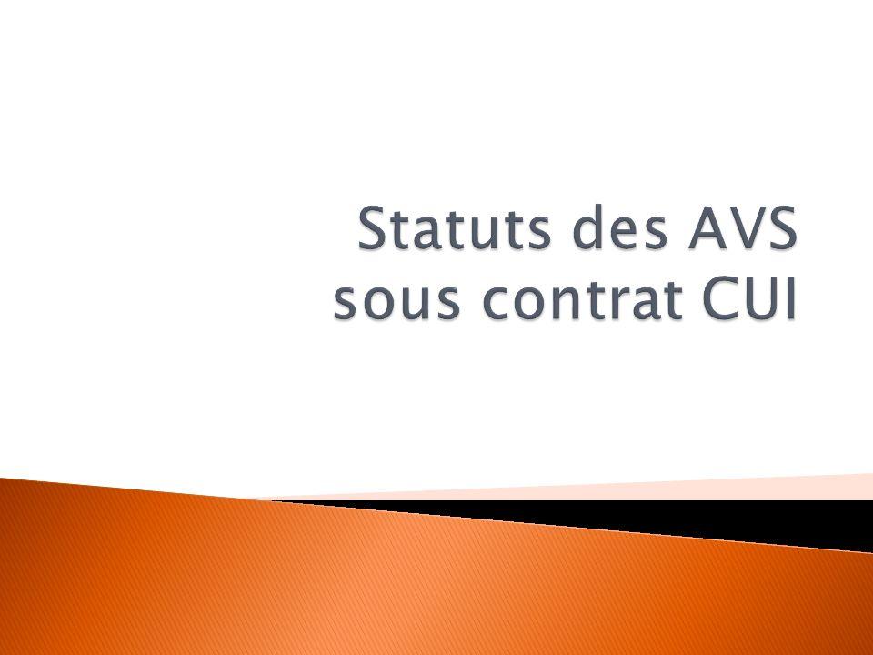 Contrat Unique dInsertion contrat de droit privé Contrat de 2 ans 20 h à 24 h par semaines 670 par mois C ONTRAT