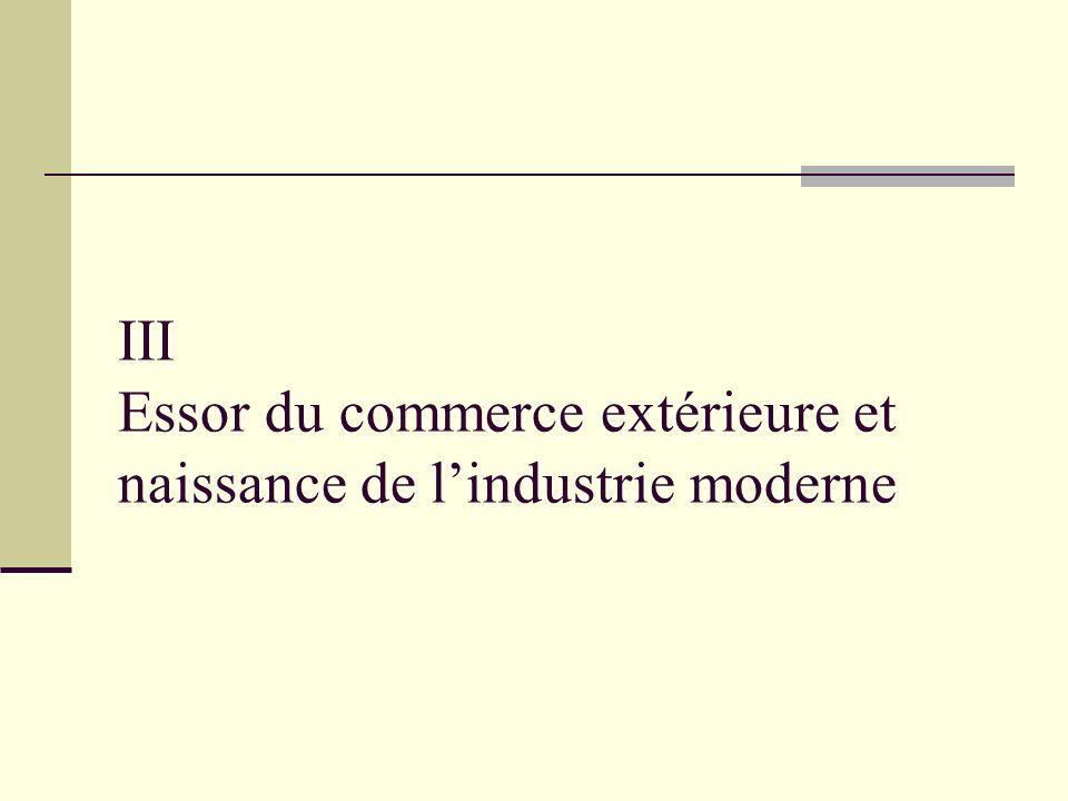 III Essor du commerce extérieure et naissance de lindustrie moderne