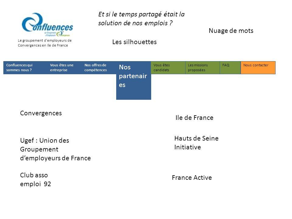 Le groupement demployeurs de Convergences en Ile de France Les silhouettes Nuage de mots Confluences qui sommes nous .