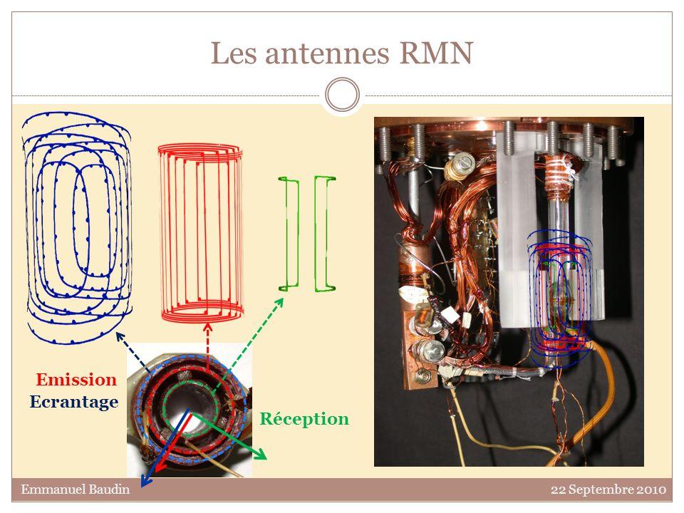 Les antennes RMN Réception Ecrantage Emission Emmanuel Baudin 22 Septembre 2010