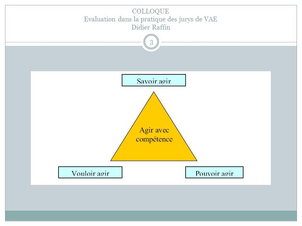 COLLOQUE Evaluation dans la pratique des jurys de VAE Didier Raffin 3