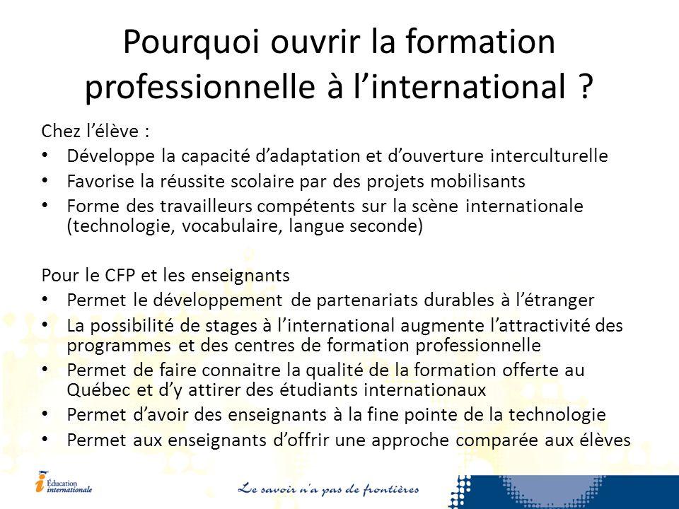 Pourquoi ouvrir la formation professionnelle à linternational .