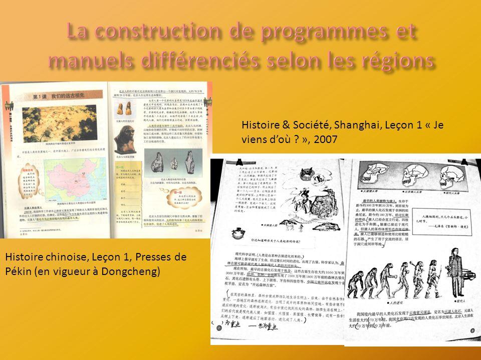 Histoire chinoise, Leçon 1, Presses de Pékin (en vigueur à Dongcheng) Histoire & Société, Shanghai, Leçon 1 « Je viens doù .