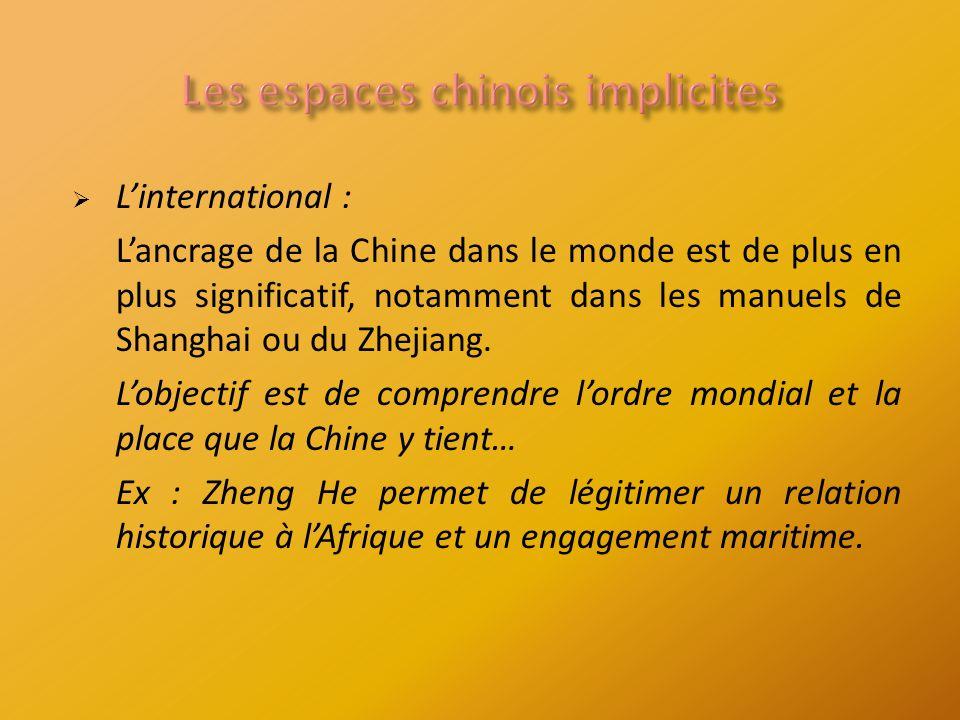 Linternational : Lancrage de la Chine dans le monde est de plus en plus significatif, notamment dans les manuels de Shanghai ou du Zhejiang.