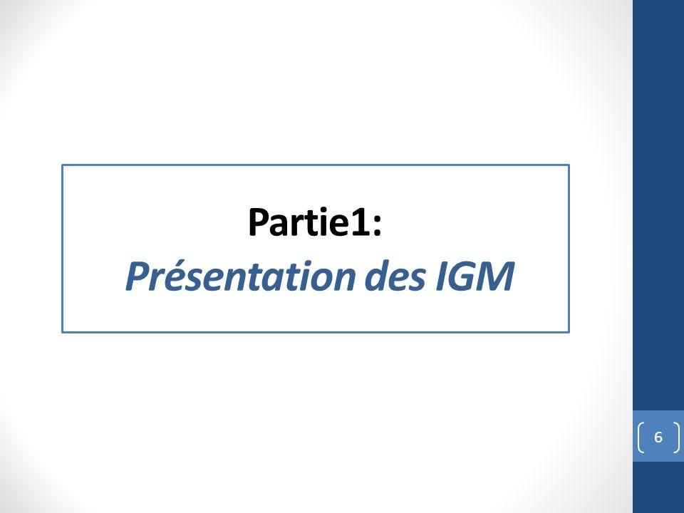Partie1: Présentation des IGM 6