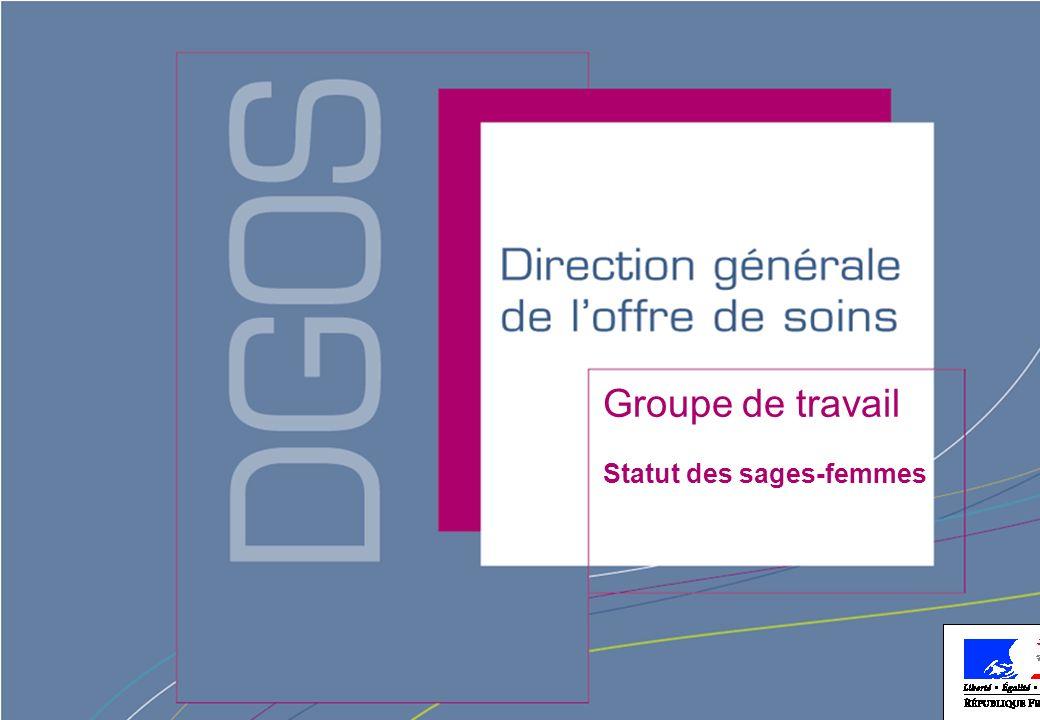 Direction générale de loffre de soins - DGOS Groupe de travail Statut des sages-femmes