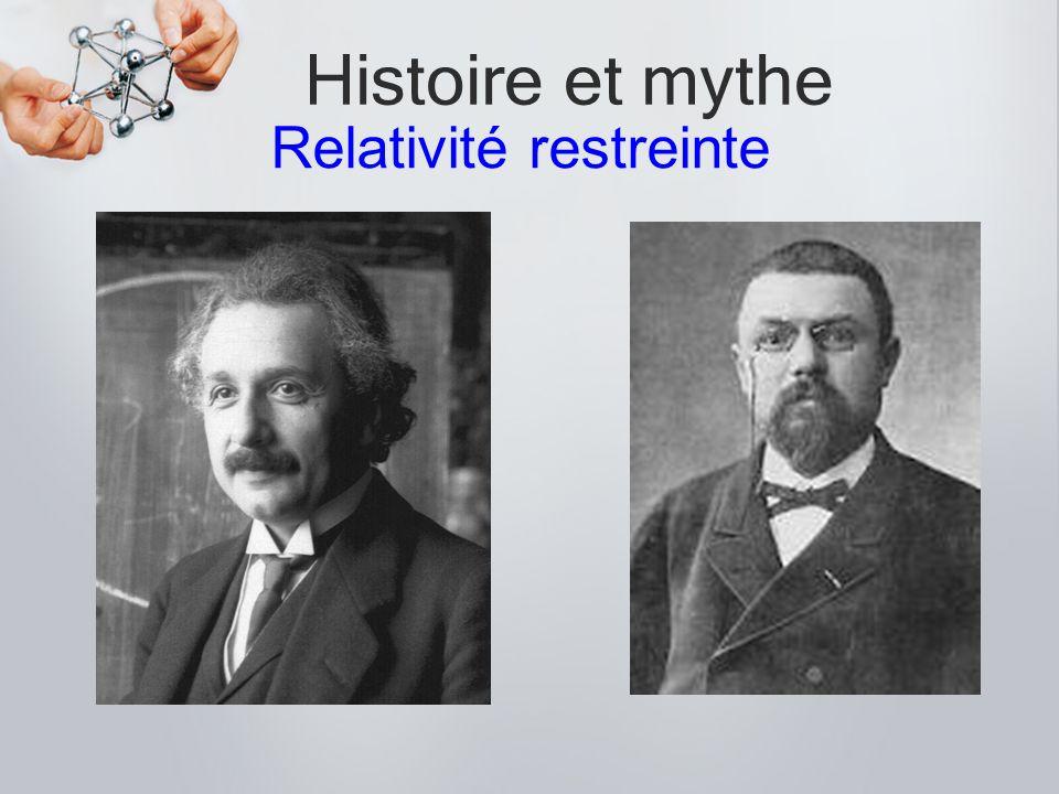 Histoire et mythe. Relativité restreinte