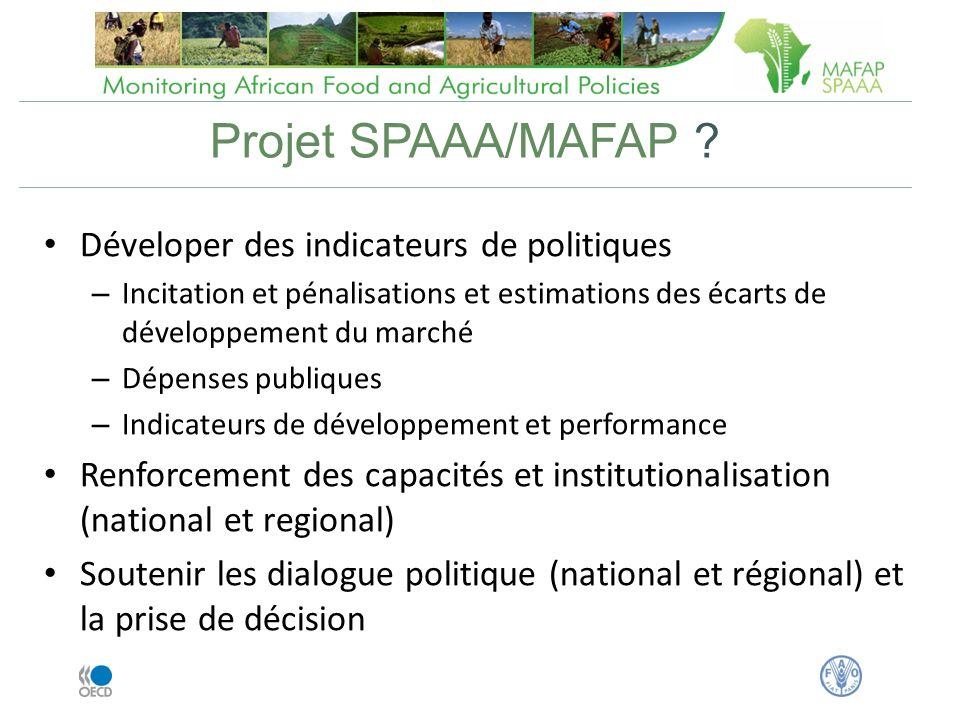 Projet SPAAA/MAFAP .