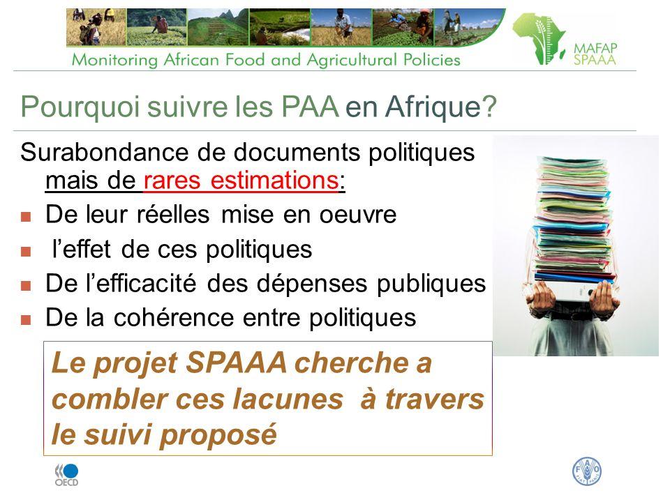 Pourquoi suivre les PAA en Afrique.