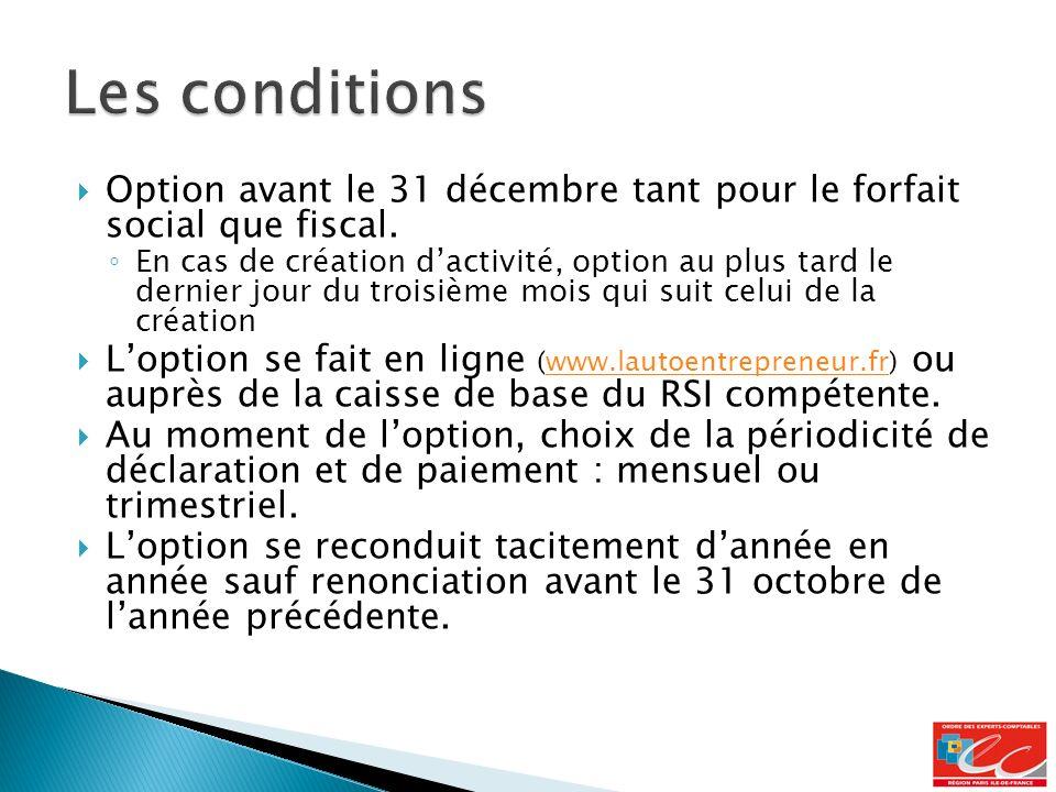 Option avant le 31 décembre tant pour le forfait social que fiscal.