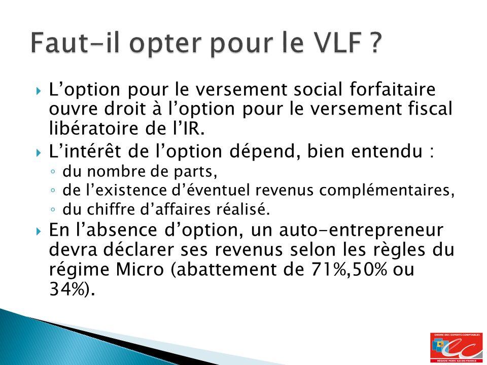 Loption pour le versement social forfaitaire ouvre droit à loption pour le versement fiscal libératoire de lIR.