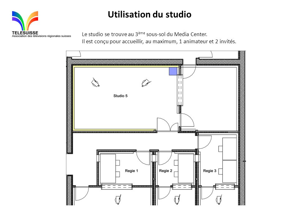 Dimensions du studio : 7,90 m.x 4,70 m.