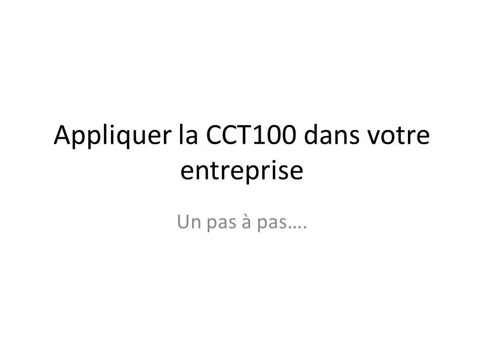 Appliquer la CCT100 dans votre entreprise Un pas à pas….