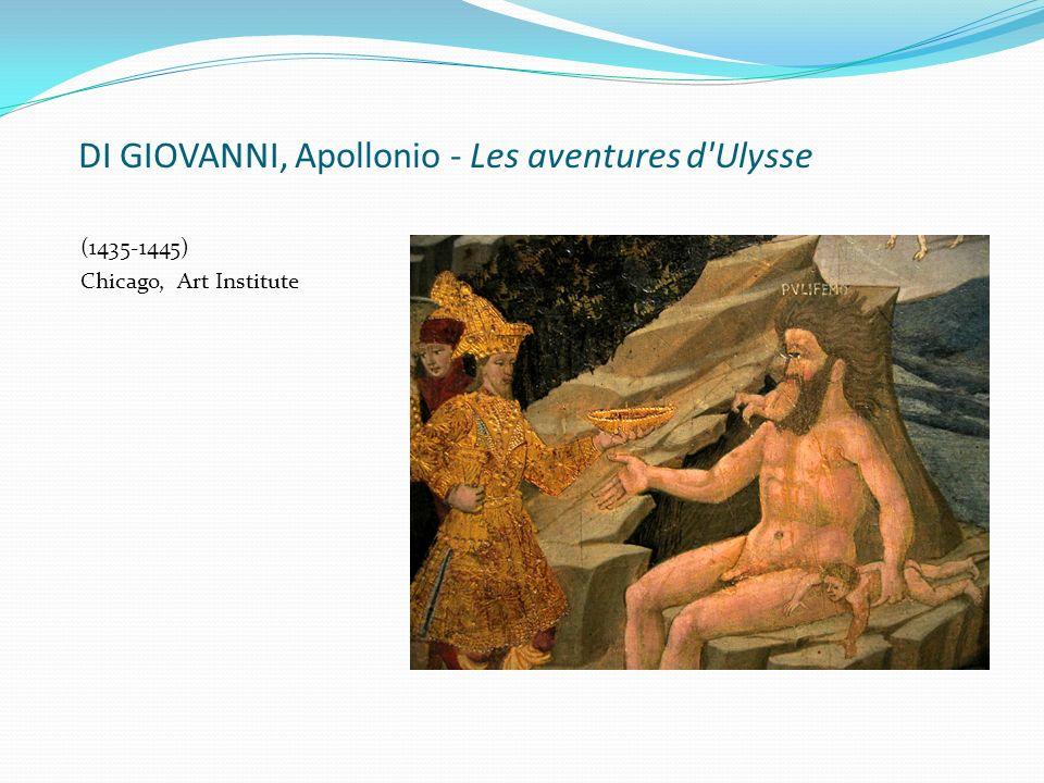 DI GIOVANNI, Apollonio - Les aventures d'Ulysse (1435-1445) Chicago, Art Institute