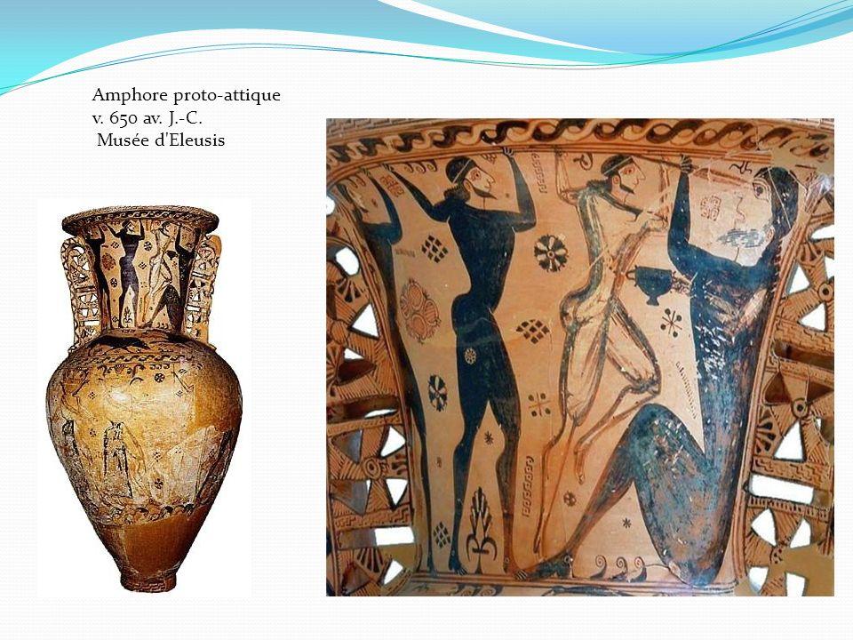 Amphore proto-attique v. 650 av. J.-C. Musée d'Eleusis