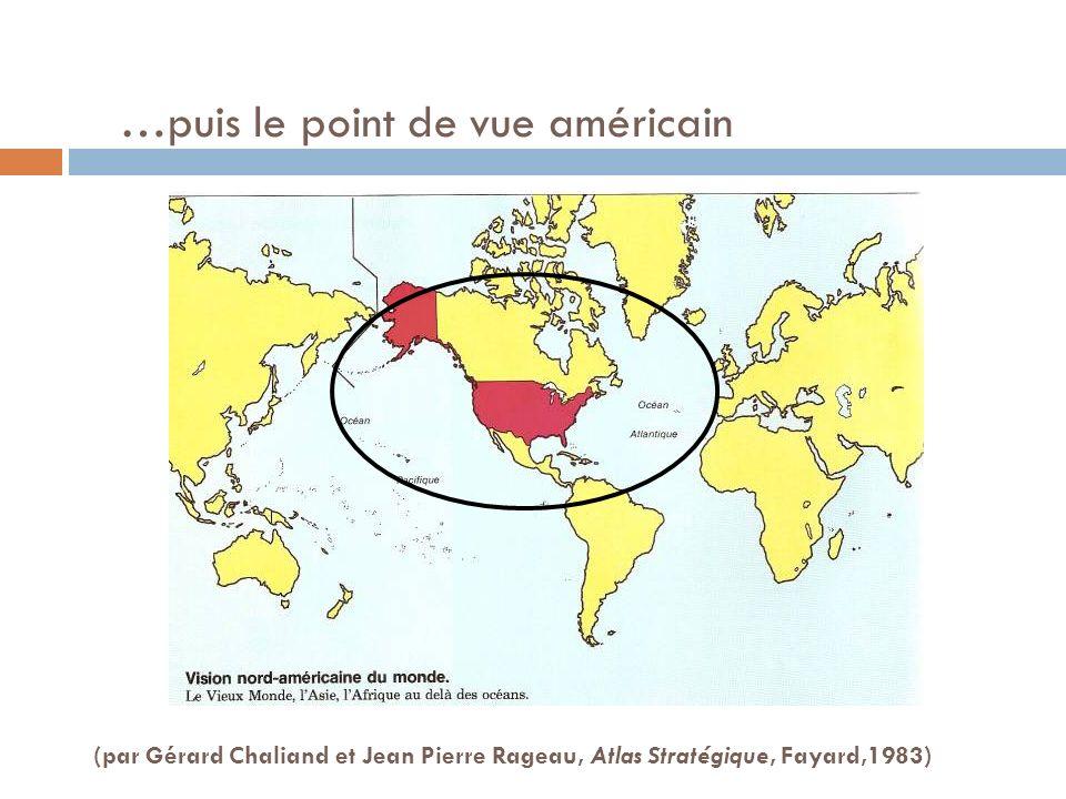 …puis le point de vue américain (par Gérard Chaliand et Jean Pierre Rageau, Atlas Stratégique, Fayard,1983)