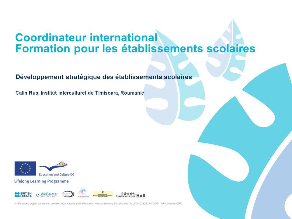 Coordinateur international Formation pour les établissements scolaires Développement stratégique des établissements scolaires Calin Rus, Institut interculturel de Timisoara, Roumanie