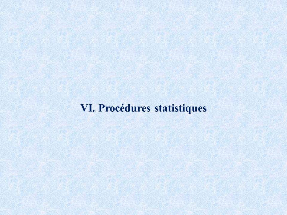 VI. Procédures statistiques