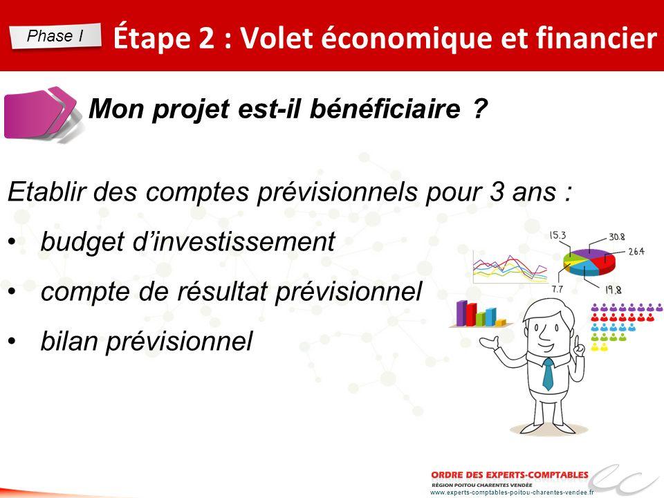 www.experts-comptables-poitou-charentes-vendee.fr Étape 2 : Volet économique et financier Mon projet est-il bénéficiaire ? Etablir des comptes prévisi