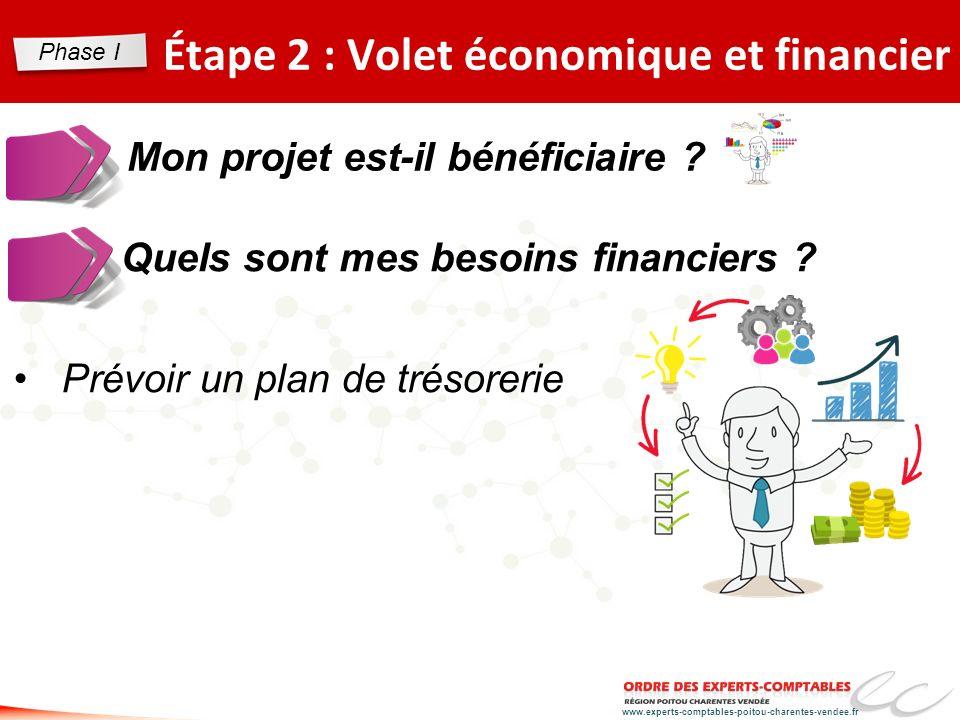 www.experts-comptables-poitou-charentes-vendee.fr Étape 2 : Volet économique et financier Mon projet est-il bénéficiaire ? Quels sont mes besoins fina
