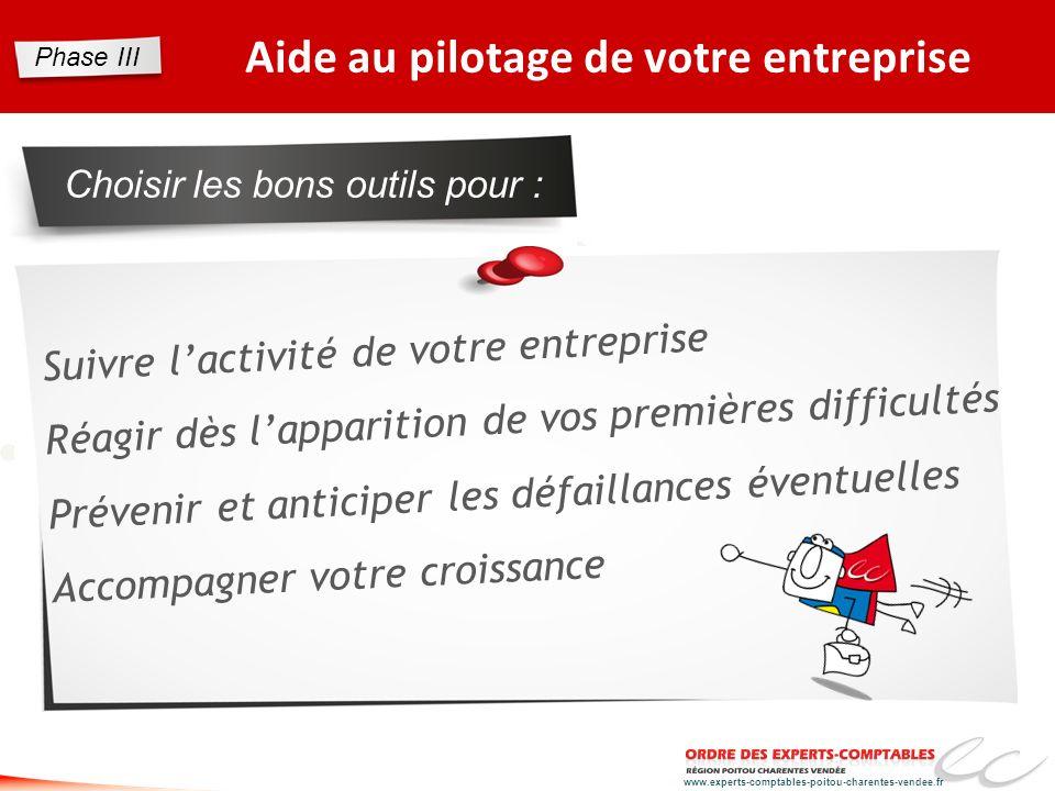 www.experts-comptables-poitou-charentes-vendee.fr Aide au pilotage de votre entreprise Choisir les bons outils pour : Suivre lactivité de votre entrep