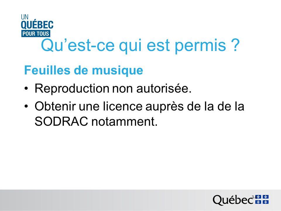 Quest-ce qui est permis . Feuilles de musique Reproduction non autorisée.