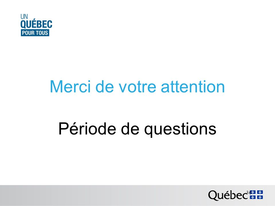 Merci de votre attention Période de questions 36