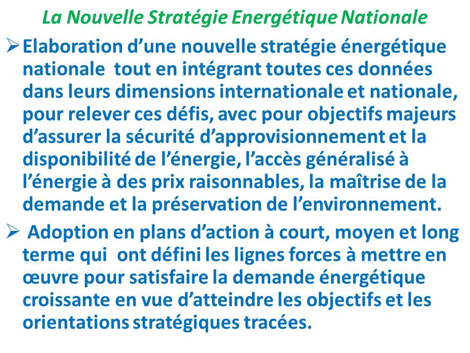 La Nouvelle Stratégie Energétique Nationale Elaboration dune nouvelle stratégie énergétique nationale tout en intégrant toutes ces données dans leurs