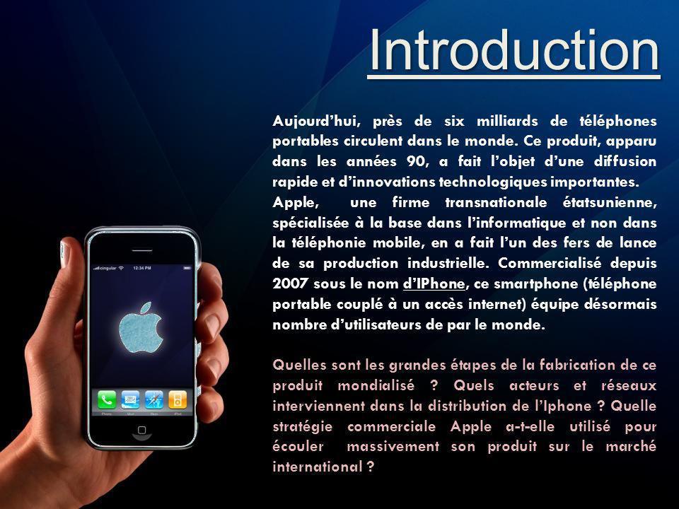 Introduction Aujourdhui, près de six milliards de téléphones portables circulent dans le monde. Ce produit, apparu dans les années 90, a fait lobjet d